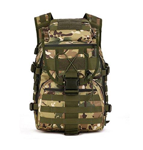 Militär Schulter Rucksack 46L Tactical Tagesrucksack MOLLE Assault Pack Rucksack Gear Wasserdicht Tasche für Jagd Camping, Jungle Digital (40l Wasserdichte Wander-rucksack,)