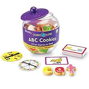 Learning Resources- Galletas del Alfabeto ABC Cookies de Goodie Games, Color (LER1183)