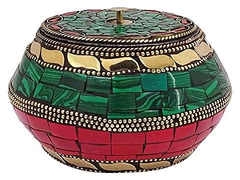 Handgemachte Mosaik Fliesen Metall Schmuck Lagerung Geschenk Pot Home Decor Tabelle