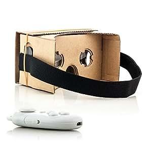 """VR xTRADEFACTORY virtual reality lunettes 3D en carton manette de jeu bluetooth pour samsung galaxy s4 mini value universal edition pour smartphones (4 à 5,5 """")"""