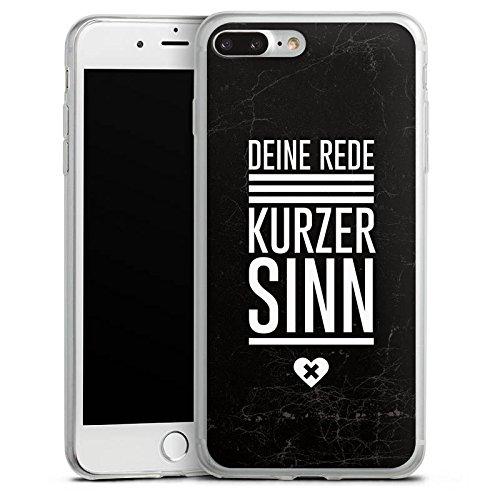 Apple iPhone 8 Plus Slim Case Silikon Hülle Schutzhülle Leben Sinn Spruch Silikon Slim Case transparent