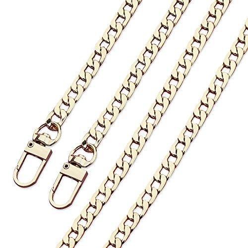 Anjing 100cm Gold Kette Gurt Tasche Ersatz Metall Gurt Handtasche Ketten für Geldbörse Schulter Cross-Body-Tasche Slight Gold -