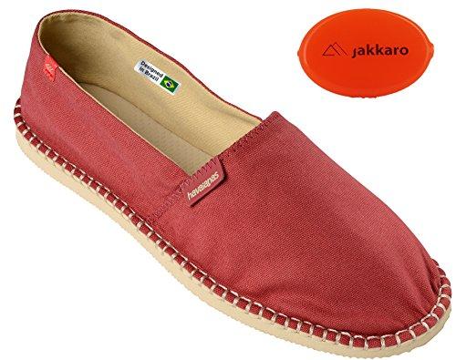 Havaianas Unisex Schuhe Damen und Herren Origine Modischer Espadrilles mit Gummisohle Plus praktischer Kleingeldbörse für den Strand, Rot (Marsala), EU 36, Normal