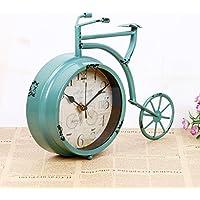 COLLECTOR Il macchiato simplex retrò orologio bicicletta grande veicolo a ruote styling silenzio campane, lago blu,28,5*6,5*22