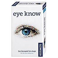 KOSMOS-Spiele-711276-Kompaktspiel-Eye-Know-Mitbringspiel KOSMOS 711276 – Eye Know Das Quizspiel fürs Auge mit 100 Bildkarten, Brettspiel -