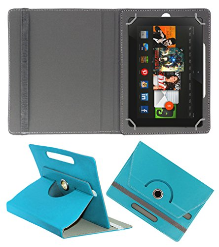 Acm Rotating 360° Leather Flip Case For Amazon Kindle Fire Hdx 8.9 Tablet Cover Stand Greenish Blue  available at amazon for Rs.179
