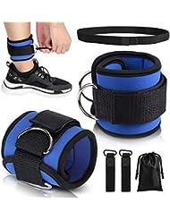 Yosoo Health Gear Par de Tobilleras Deportivas para máquinas de Cable con 2 Correas de Tobillo