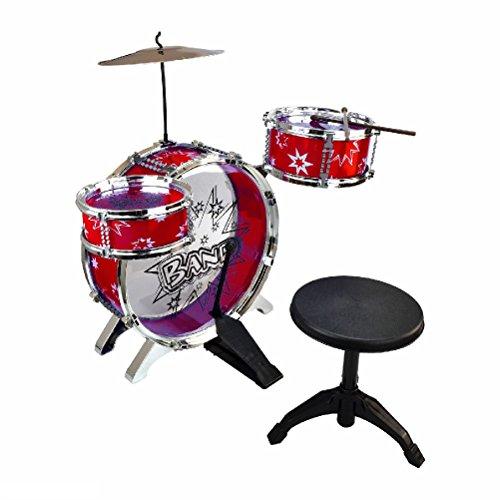 new-junior-drum-kit-cymbals-throne-children-kids-blue-and-red-set-stool-sticks