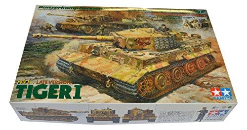 TAMIYA 300025401 - 1:35, Dt. Tiger I Standmodellbau mit Besatzung / Kommandant (Tiger 35 Tamiya 1)
