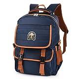 Vbiger Schulrucksack Wasserdicht Schulranzen Kinder Sportrucksack Backpack Daypack mit reflektierendes Zeichen Sportrucksack Backpack für Jungen mit Großer Kapazität (Blau)