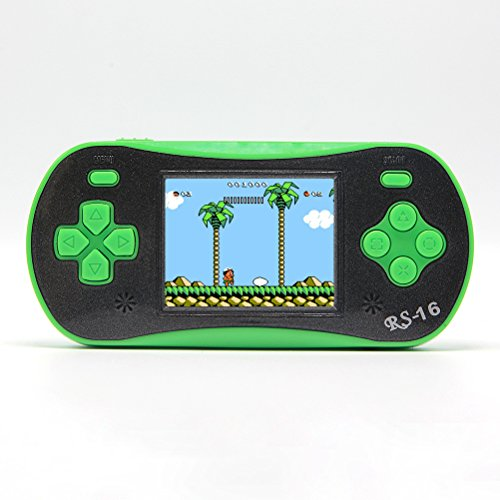 2,5pulgadas LCD portátil de mano consola de videojuegos retro juego handheld reproductor construido en 260juegos consola de juego portátil Mejor Regalo Para Niños (3x AAA) recargable Apoyo AV Cable para TV