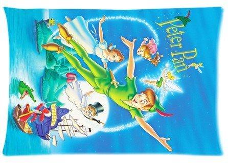Cartrol cotone & poliestere personalizzazione federa - American animata Fantasy-Adventure film Peter Pan con cerniera cuscino di custodia cover di dimensioni standard 50,8 cm X 76,2 cm (un lato)
