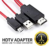 #7: Intrudo Micro USB MHL to HDMI Cable Adapter HDTV Compatible with All Smartphones