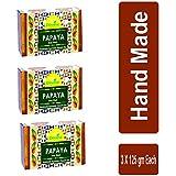 Divine India Papaya Soap, 125 g, (Pack of 3)
