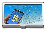 Porta biglietti da visita, porta carte di credito/porta carte di credito Bitcoin Capital