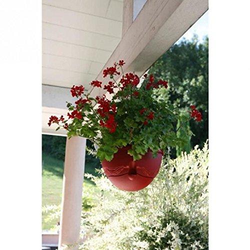 RIVIERA Pot de fleurs suspendu Anthea Ø 36cm - Contenance 12l - Rouge
