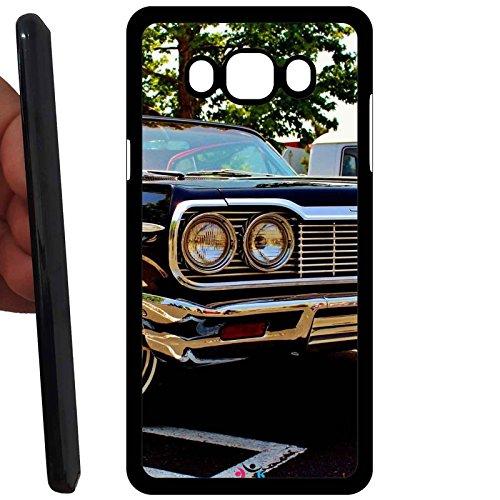 Custodia cover RIGIDA per Samsung Galaxy J1 2016 J120F -sb ner 256 Vintage Chevrolet