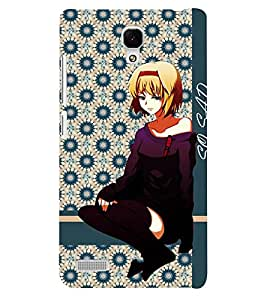 Fuson 3D Printed Girly Designer back case cover for Xiaomi Redmi Note - D4375