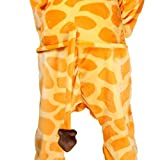 Très Chic Mailanda Unisex Erwachsene Schlafanzug Karneval Tier Cosplay Plüschtier Kapuzenkostüm Halloween (Giraffe) -