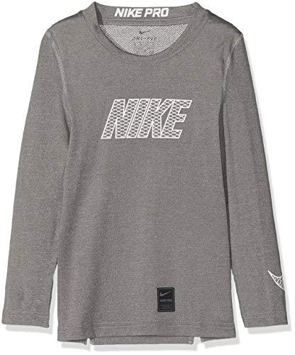 Nike Jungen Pro Longsleeve, Carbon Heather/White, XL