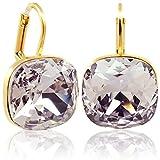 Ohrringe mit Kristallen von Swarovski® Gold Mauve Violett NOBEL SCHMUCK