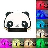 ele ELEOPTION Kinder LED Nachtlicht LED Buchlampe 8 Farbwechsel 6 Modi kreative Panda Plastik Deko Beleuchtung für Baby Kinder Kleine Geschenken