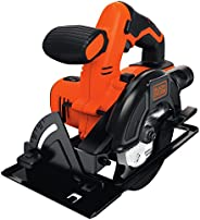 Black+Decker Cordless Circular Electric Saw, 140 mm Blade and Dust Extraction, 18V, Battery not included - BDC