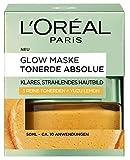 L'Oreal Paris Tonerde Absolue - Maschera glow gialla con limone, per una pelle chiara e luminosa, 50 ml