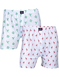 Feed Up Men's Cotton Hosiery Boxers Pack of 2