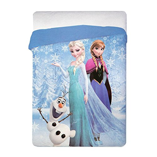 Trapunta quilt invernale frozen fiocco di neve disney singola una piazza q241