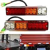 wdragon 2-pack 20LED Anhänger Rücklicht Lampe Rücklicht, Turn Signal, mit Bremse für LKW Anhänger Caravan LKW Van Der Traktor 3W DC12V