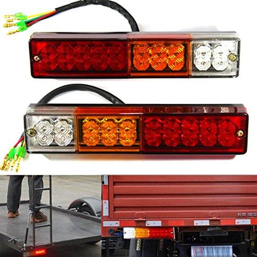 camion 12/V/ /1100080/FBA Lot de 2 feux arri/ères vintages avec fen/être pour plaque dimmatriculation Pour tracteur remorque