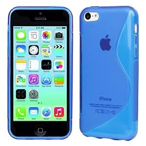 Evecase S-Line Slim TPU Case for 2013 Apple iPhone 5C (Blue)
