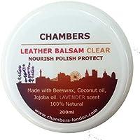 El Bálsamo Acondicionador y Restaurador Natural para Cuero de Chambers en envase de 200ml es adecuado para todos los cueros blandos y perfecto para los Sofás de piel teñidos con Anilina