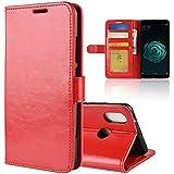 Xiaomi Mi 6X Case, Xiaomi Mi 6X Cover Thin Flip Cover Case Protect Comfortable Phone Case Compatible With Xiaomi Mi 6X By Danallc (Red)