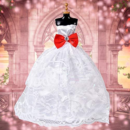 XuBa Hochzeitskleid Kleidung Set 5 Teile / Satz Puppe Kleid Abend Lange für Barbie 30 cm Puppen