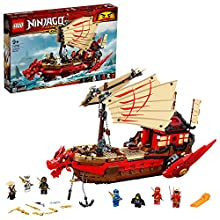LEGO NINJAGO Legacy Playset Bounty del Destino, Nave da battaglia giocattolo, 71705