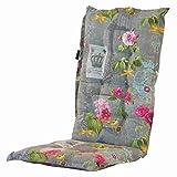 4 Hochlehner Auflagen 120 x 50 x 6 cm Madison Nadie grey in grau geblümt Gartenpolster