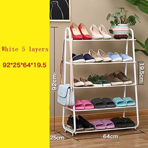 Eeayyygch Shop Schuhe im europäischen Stil Eisenstaub Schlafsaal Schuhregal mehrstöckige...