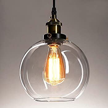 Frideko vintage industrial ball glass lampshade ceiling pendant frideko vintage industrial ball glass lampshade ceiling pendant light for home office bedroom coffee shop aloadofball Image collections