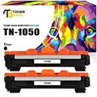 Toner Bank 2 Pack Compatible TN1050 for Brother TN1050 TN-1050 TN 1050 Toner Cartridge for Brother HL-1112 HL-1210w Toner HL-1110 HL-l112 HL1112 HL1110 HL 1112 1110 1212w 1210w,Brother DCP-1610w 1510 1512 1610w 1612w