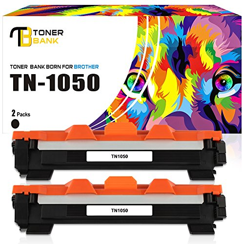 Toner Bank 2-Pack (2000 Páginas) Cartuchos de Tóner Negro Compatible con TN-1050 para Brother HL-1110 1110E 1110R 1112 1112E 1112R 1210W 1212W, Brother MFC-1810 1810E 1810R 1815R 1910W, Brother DCP-1510 1510E 1510R 1512 1512E 1512R 1610W 1612W