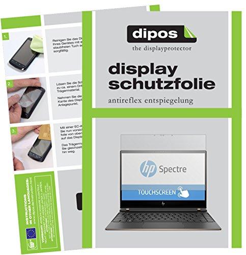 dipos I 2X Schutzfolie matt passend für HP Spectre 13-af033ng Folie Bildschirmschutzfolie
