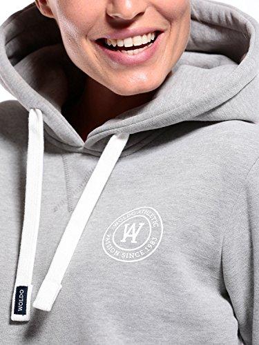 WOLDO Athletic Damen Hoodie Kapuzenpullover Grey