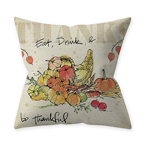Kissenbezüge fur Sofa Fghyh Thanksgiving Pumpkin Dekokissen Kissenbezüge Dekorative Sofakissenbezug 45cmx45cm(2O, Einheitsgröße)