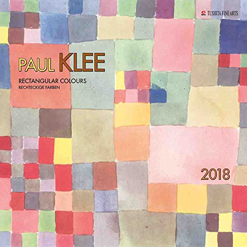 Calendar Paint Artist Paul Klee Rectangles Colours Abstract Art – Geometrique – Bright Colours – 2018 (TS) + A Pocket Diary 2018