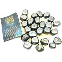 Runen-Set Hämatit das Spiel der Runen 25 Steine mit Beutel preisvergleich bei billige-tabletten.eu