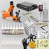LXLLY Machine de Tatouage Complet débutant Facile à Utiliser Tatouage Art 8 Couleur Encre 8 Tatouage à l'aiguille et kit de Tatouage pour Les débutants et L'Artiste