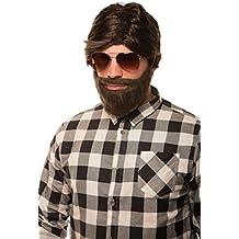 "Hangover ""Alan"" Peluca marrón con Barba para Carnaval, Carnaval, Despedida de soltero"