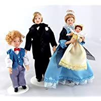 Dolls House Miniature Victorian Family of 4 People 307